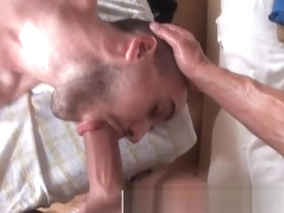 Straight guy takes cock in his mouth