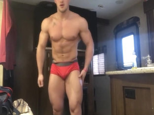 Young cocky bodybuilder