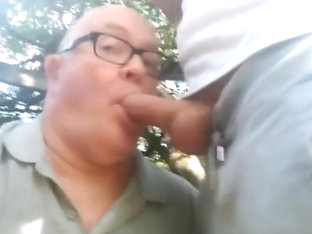 a daddy suck two cocks and big loads in mouth outside 2 720p