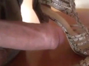 shoejob &amp,amp, cum in sandals my wife