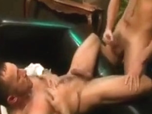 Suited Hunks Flip Fuck at the Office
