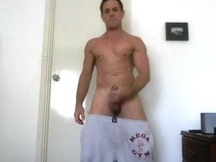 Scally Stud Jerk Off in Sweatpants