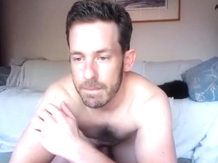 Sweet boy is jerking in the bedroom and memorializing himself on webcam