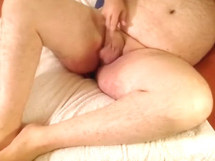 Drilled myself by a massive sex tool