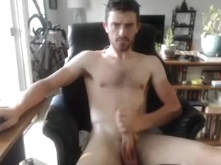 Nice-looking BF is masturbating at home and filming himself on web cam