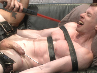 Bound missionary gets split wide open with double fisting & sounding
