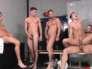 Twink ###ly double anal gangbanged in this gay orgy!