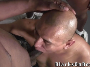 Black men sharing a bald dude