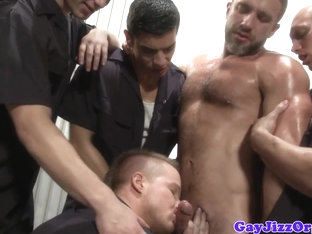 Mechanic jocks assfucking before cumshot
