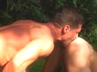 Crazy male pornstars Ben Archer and Derek Cameron in exotic tattoos, group sex gay xxx clip