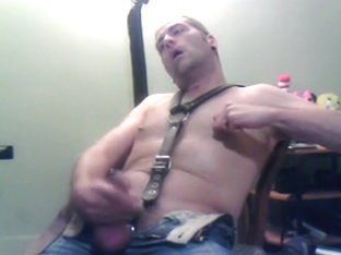 Horny Man Jerking Off