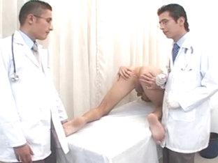 Gay hunk MD fucks a patient in his office