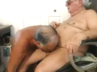 two grandpa suck each other