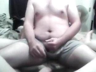 red head deepthroats and eats cum acquires a facial and cums