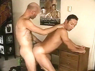 Hairy man fucks asshole