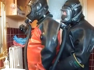 2 rubber diver in act