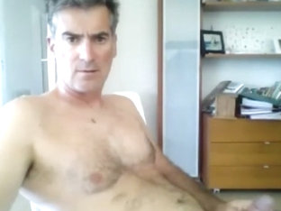 french dad strips down and cums