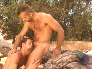 Michael Brandon Jon Galt Flip Fuck in the Woods
