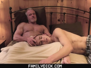 FamilyDick - Muscular Step-Grandpa Fucks A Boy Before Bedtime