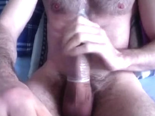 jerk off with a fuck-rubber