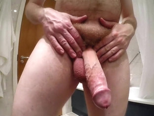 My hairy big wet cock hands free cum shot now hd 720p