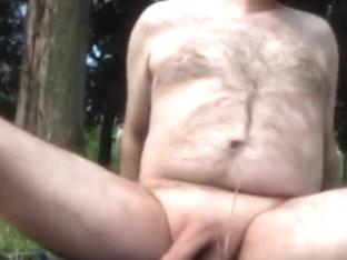 Nude & cum in the park / A poil & jouissance dans le parc