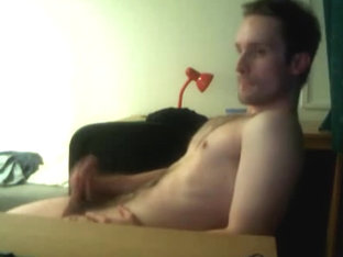 Hairy Gay man cums on himself on cam