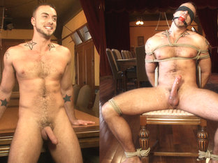 Porn superstar Jessie Colter gets bound, gagged and edged until he begs to cum.