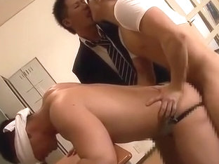 Hot Asian Trio Kissing