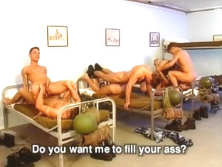 Five Horny Army Men Have A Bit Of Private Fun