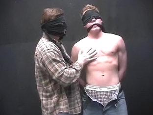 The Pledgemaster And Fred Johansen Have Some Blindfolded Fun
