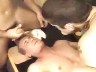 Exotic male in crazy group sex, blowjob gay sex video