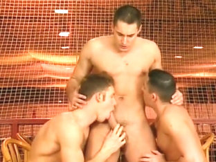 Three Sexy Men Suck And Fuck One Another