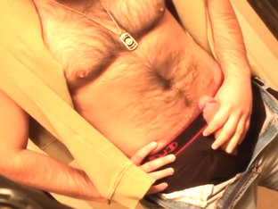 Don Stone In Sexy Hot Outfit Hairy Chest In Jeans Masturbating To Porn 6
