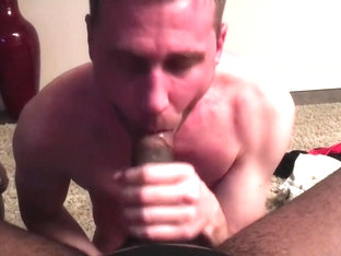 Bi White Boy Sucking BBC and moaning like a Slut