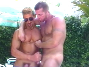 Sexy Hot Muscled Hunks By The Pool - Iron Horse