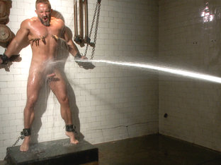 Muscled hunk Dirk Caber relentlessly tormented and his ass violated
