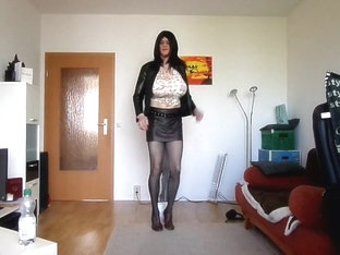 With monster tits dancing in hot short skirt
