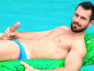 Brock Cooper in Brock Cooper Poolside Video