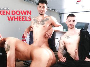 Johnny Torque & Silas O'Hara & Rocco Russo in Broken Down Wheels XXX Video