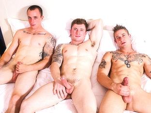 Markie, Michael & James Military Porn Video