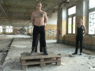 Straight German stud gets edged while his girlfriend watches