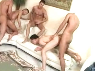 Fabulous male in crazy group sex gay adult movie