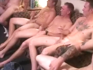 A room full of soldiers jerking off together