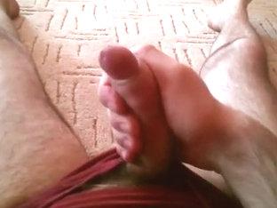 Stroking in Hawt Undies on the Floor