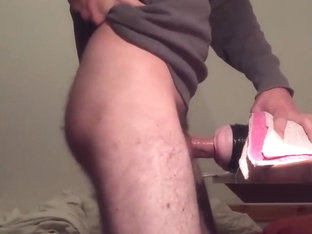 Curved uncut cock fleshlight fuck cum inside