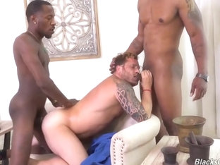 Two Muscle Bbc Fucks Daddy
