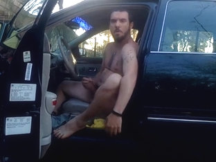 Man Caught Naked in the car