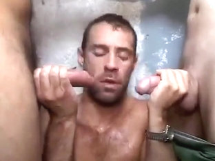 He makes two dicks cum