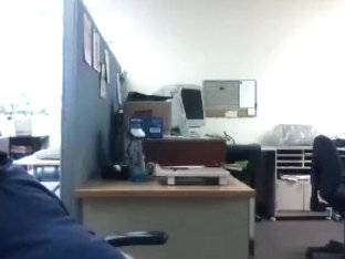 Lovely gay is frigging in a small room and memorializing himself on computer webcam